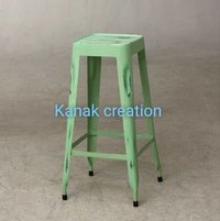 Tolix long Bar Stool green
