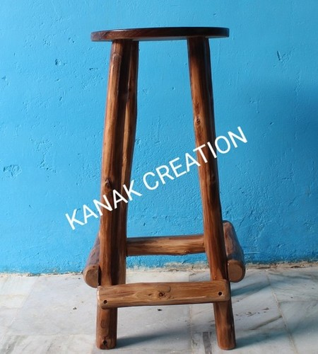 Indian reclaimed wood stool
