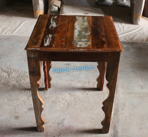 Small Reclaimed Wood Stool