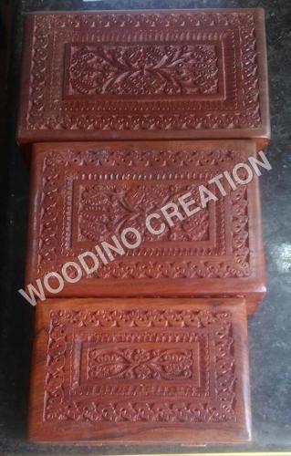 Designer Wooden Carving Box