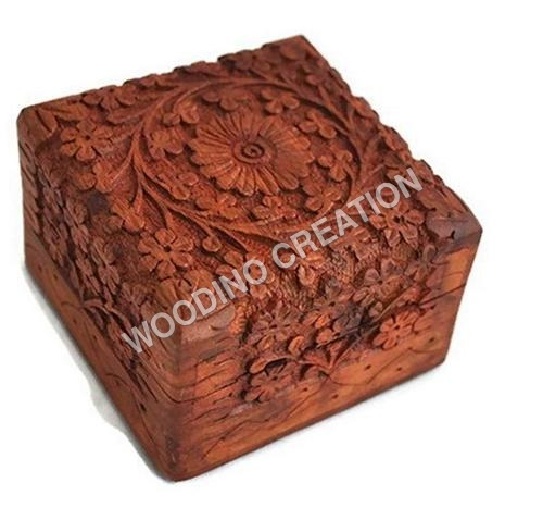 Designer Wooden Carving Box