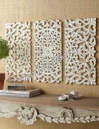 Designer Wooden Carving Panel