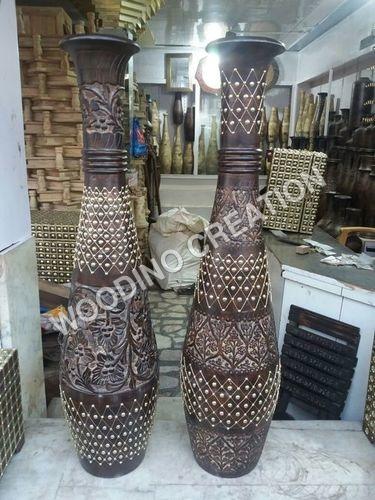 Designer Wooden Flower Pot
