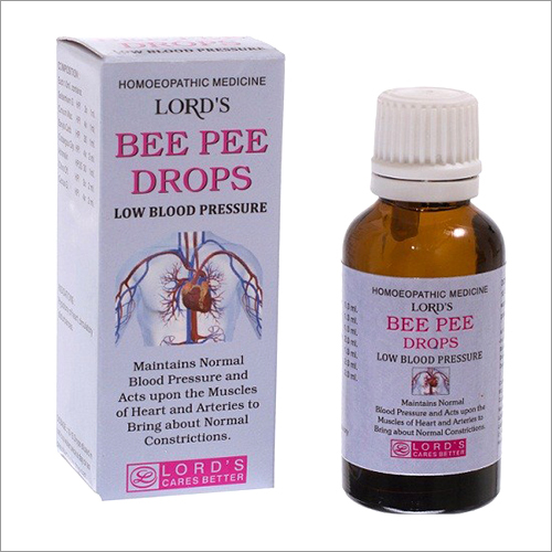Low Blood Pressure Bee Pee Drops