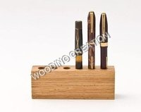 Designer Wooden Pen Holder & Letter Box