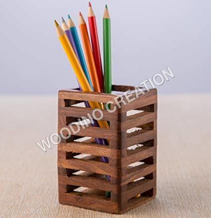 WOODEN PEN HOLDER & LETTER BOX