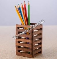 Wooden Pen Holder & Letter Box