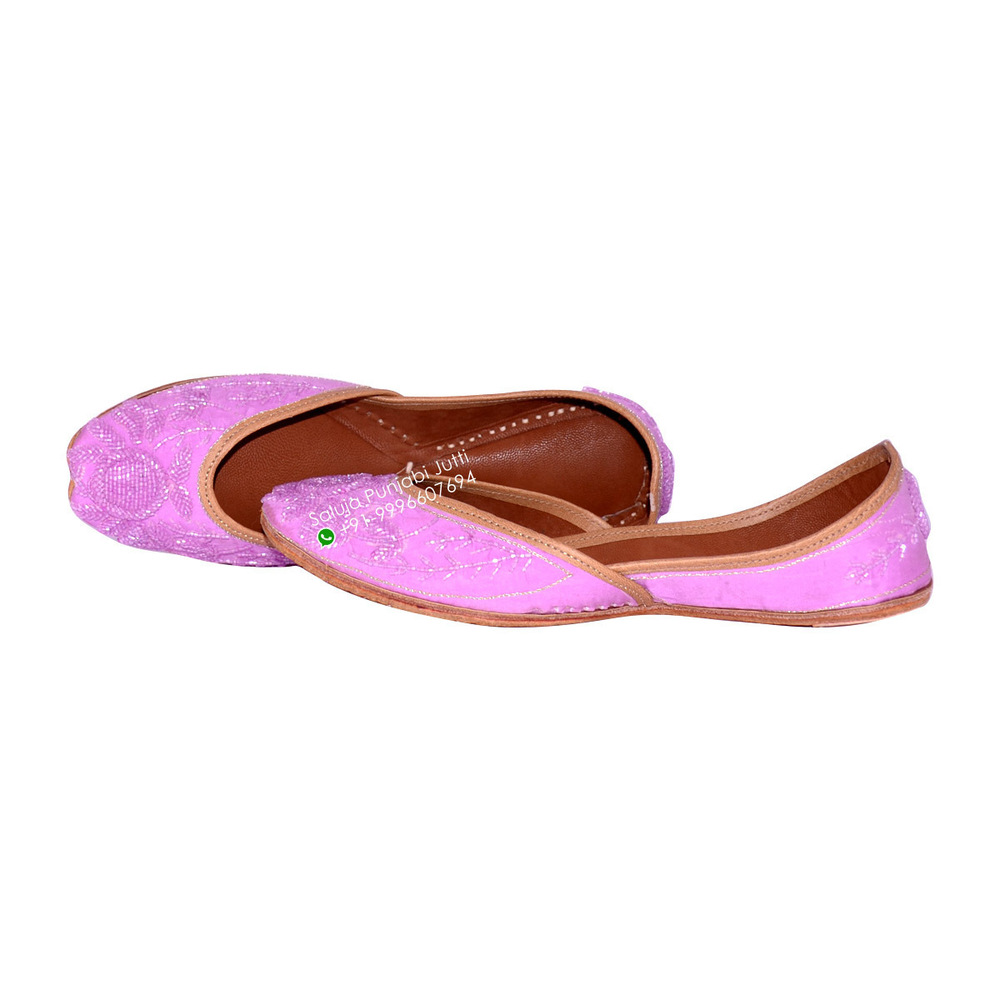 Pink party wear Punjabi Jutti