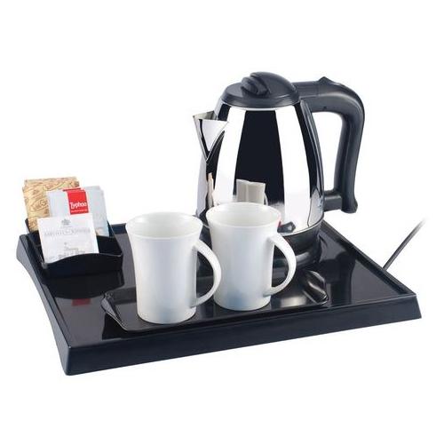 Hotel Tea Kettle Tray Set