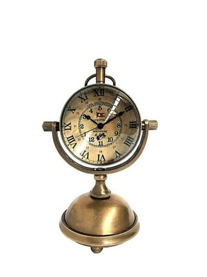 Table Clock  Brass Stand