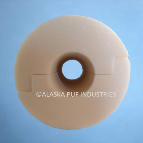 Step Cut PUF Pipe Section