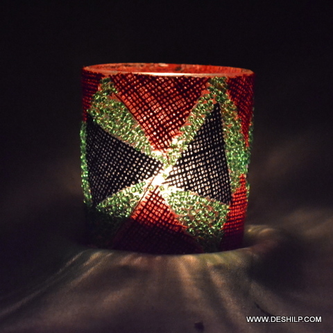 Handmade Mosaic Glass Candle Holder