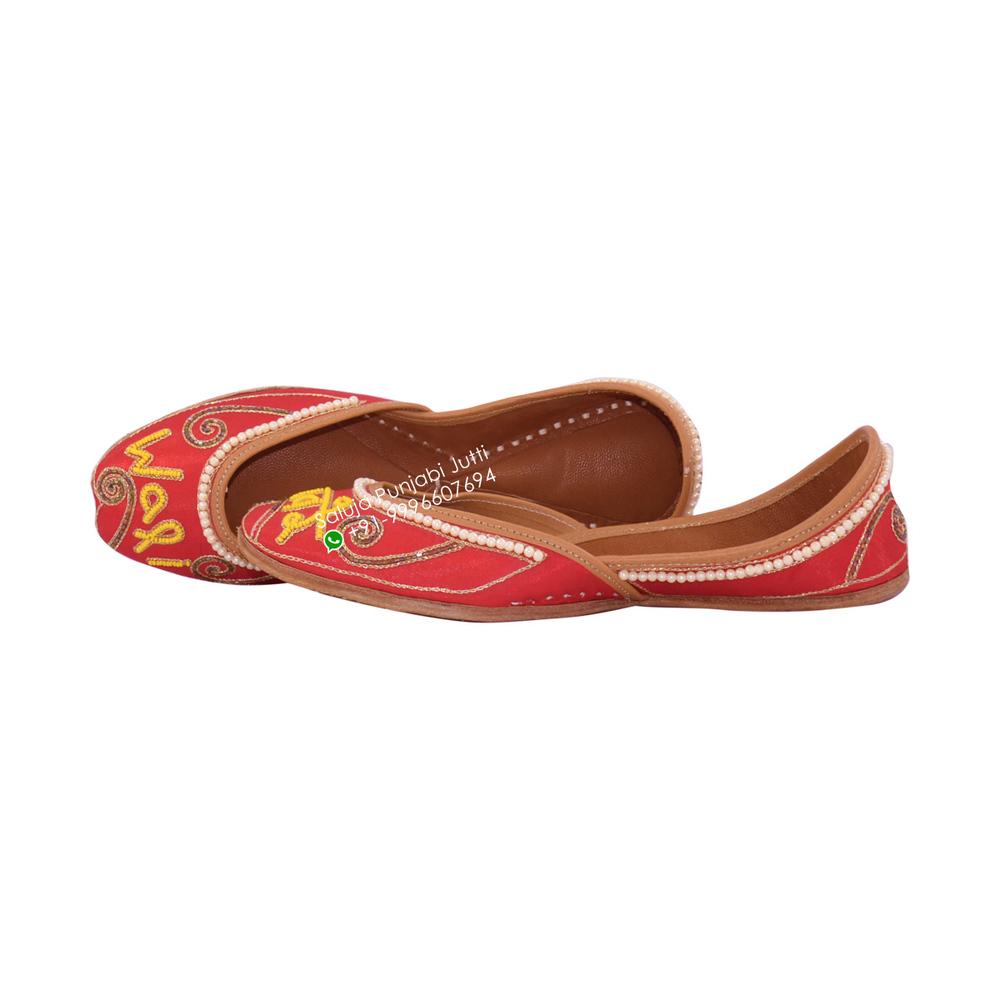 Red Punjabi Jutti  For Women