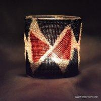 Antique Glass T Candle Votive