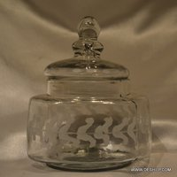 Antique Glass Clear Jar