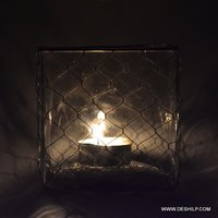 Small Glass Clear Candle Holder