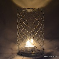 Modern Shape Glass Candle Holder