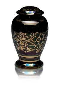 Iridescent Cremation Urn with Shamrock Design