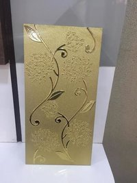 Simple flower Golden tiles