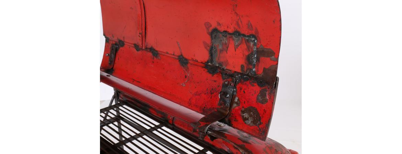 Antique bar tractor hood