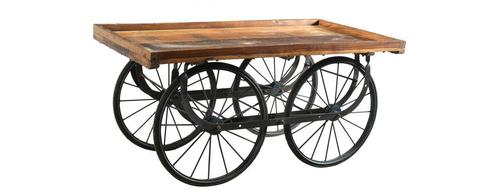 Unique Tables 4 Wheeled Handcart Furniture
