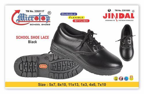 Girls Black School Shoe
