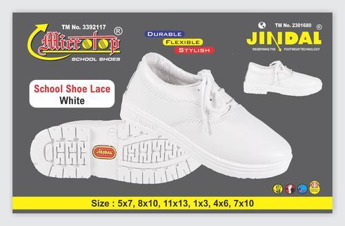Boys White School Shoe