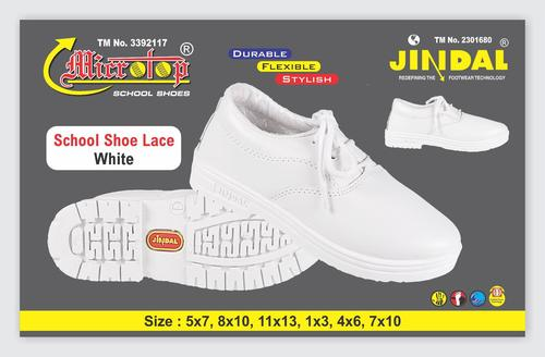 BOYS SCHOOL SHOE WHITE