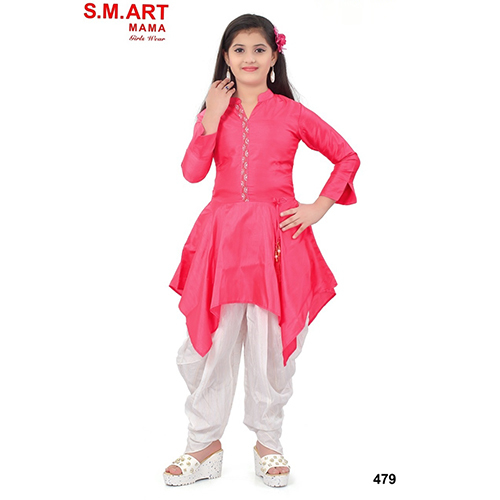 Girls Short Top With Dhoti