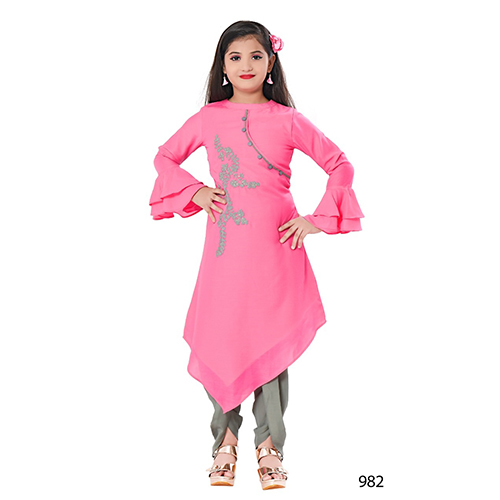 Girls Designer Kurti With Dhoti