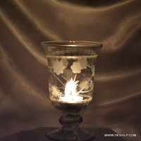 Glass Hurricane Candle Holder