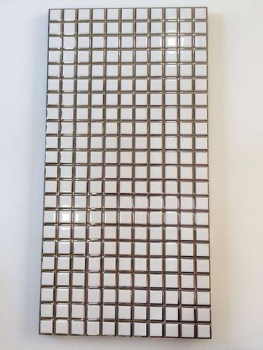 Mosaic white tiles