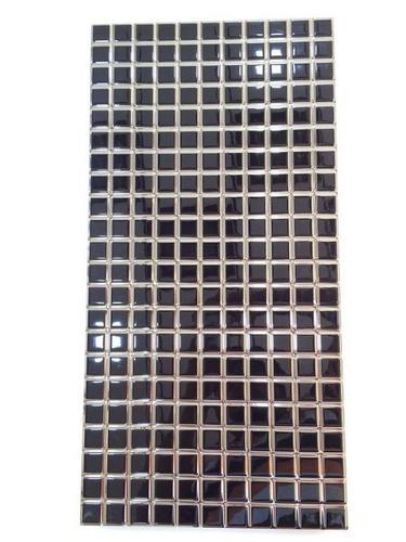 Mosaic black tiles