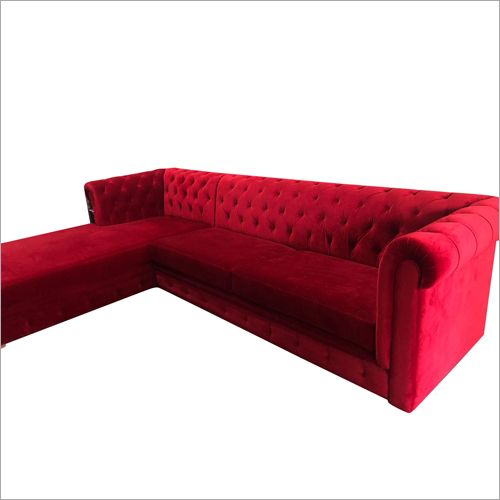 L Shape Corner Chester Sofa Set