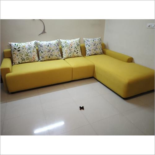L Shape Corner Plain Sofa Set
