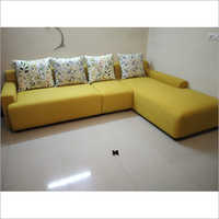 L Shape Corner Plain Sofa Set