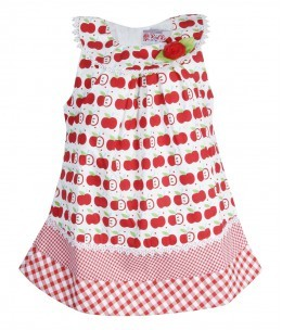 Ezine Red & White Frock