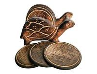 Wooden Tea Coaster-Tortoise