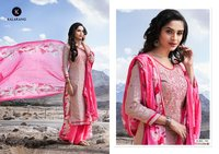Cotton satin printed salwar kameez