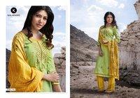 Cotton satin printed salwar kameez