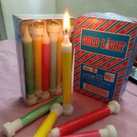 Film Color Candles With Stand