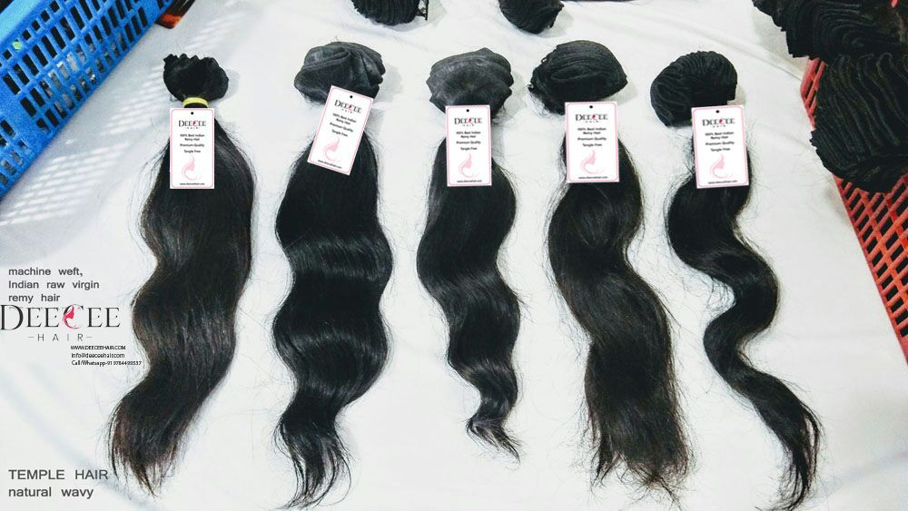Raw virgin double machine weft hair