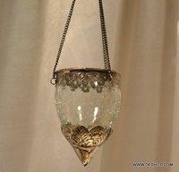 Creak Glass Clear T Light Hanging