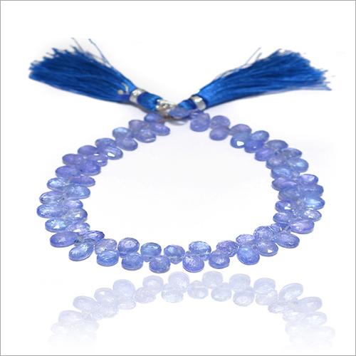 Natural Iolite Pear Handmade Gemstone Beads Strand