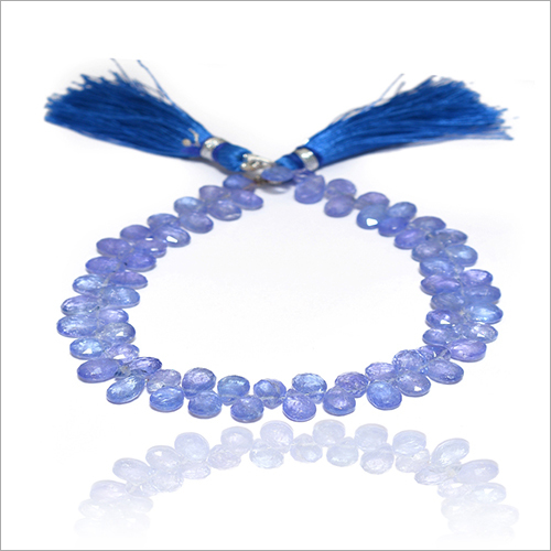 Natural Iolite Pear Beads Strand