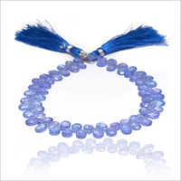 Natural Iolite Pear Handmade Gemstone Beads Strand