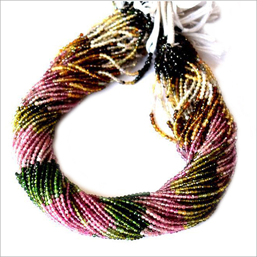 Natural Multi Tourmaline Gemstones Beads Strands