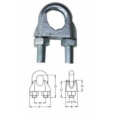 Wire Rope Clamps - Manufacturers & Suppliers, Dealers