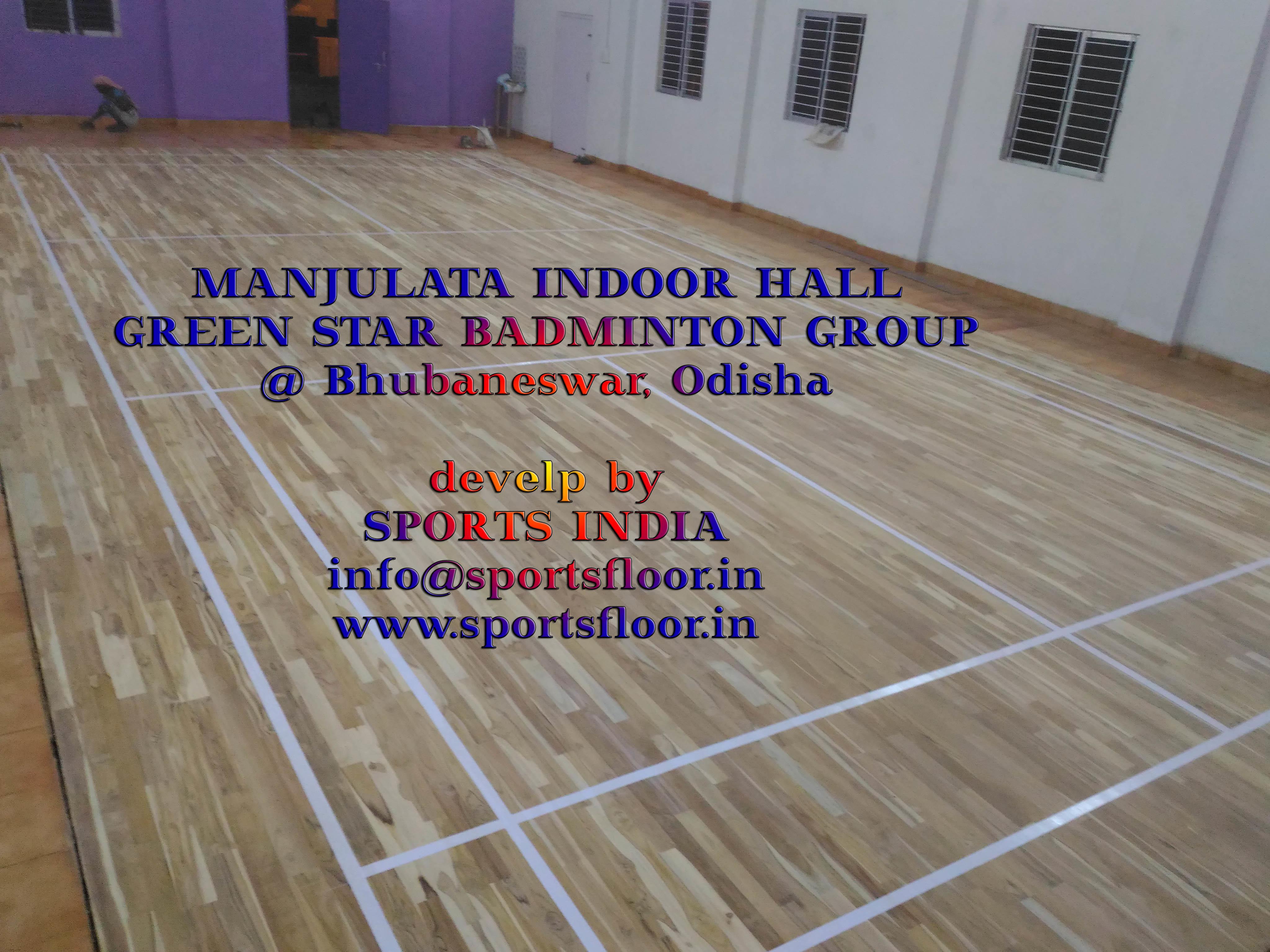 Badminton Wooden Court