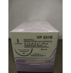 Ethicon Synthetic Absorbable Coated Vicryl Plus Antibacterial Sutures (Polyglactin 910 With Triclosan) (VP2518)